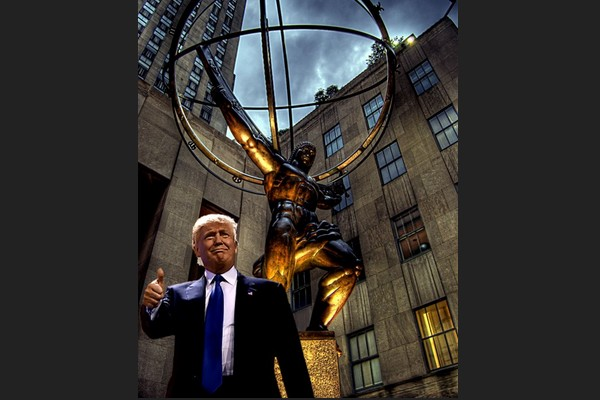 Trump and Lee Lawrie's Atlas Statue in New York