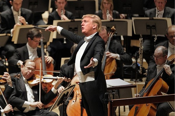Trump conducting Beethoven's 5th Symphony