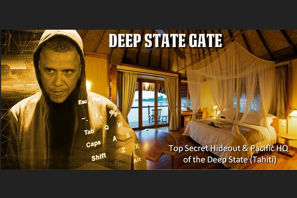 Obama at Deep State's Hideout on Tahiti