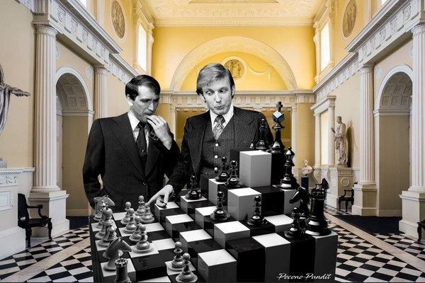 Trump and Bobby Fischer in Museum
