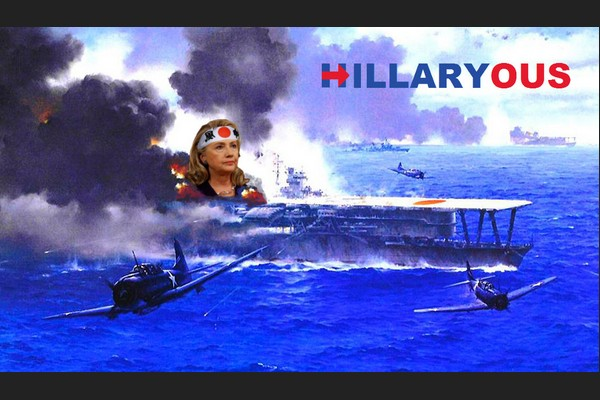 Hillary on Japanese Aircraft Carrier during Midway