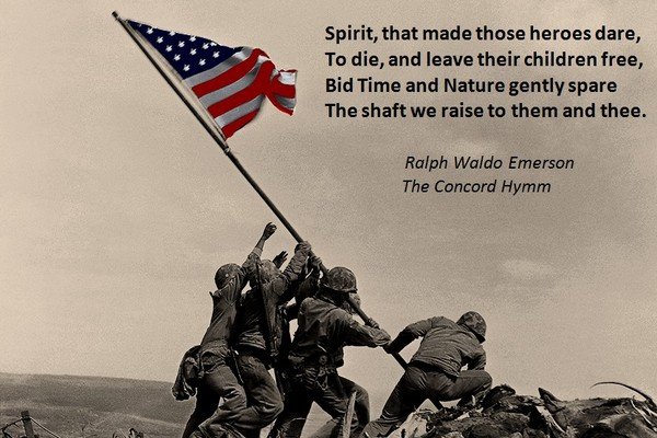 Flag Raised over Iwo Jima: Emerson's Concord Hymm