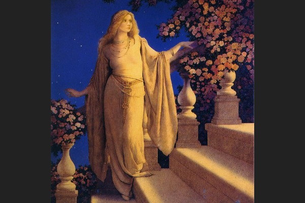 Melania is Cinderella in Maxfield Parrish's Famous Painting