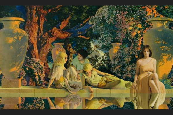 Melania in Max Parrish's Garden of Allah