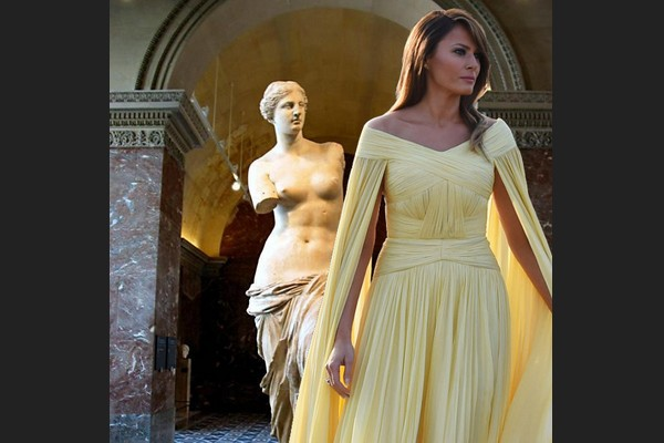 Melania and Venus de Milo