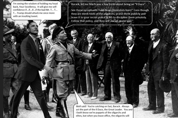 Obama Gets Leadership Tips from Mussolini