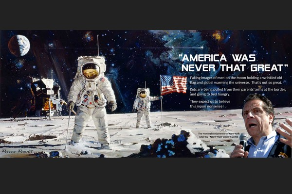 Cuomo: Americans Land on the Moon -- Not so Great
