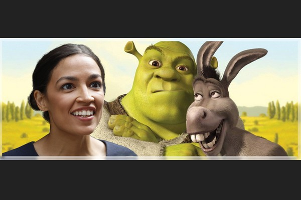 AOC, Shrek, and Donkey