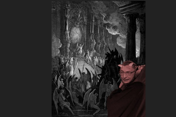 Podesta in Gustave Dore Etching from Hell