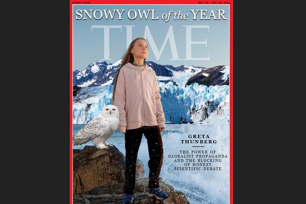 Greta as Time's Snowy Owl of the Year