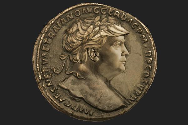 Trump Roman Coin