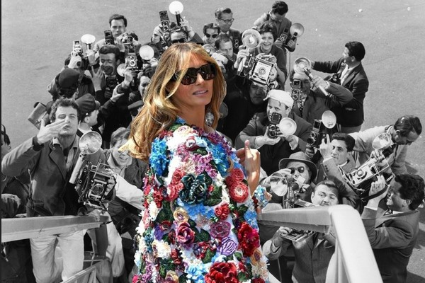 Melania Being Chased by Papparazzi