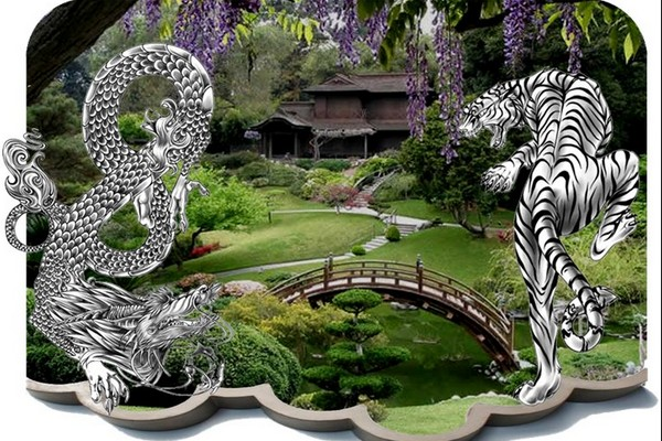 The Dragon and Tiger Protecting the Free Man's Garden